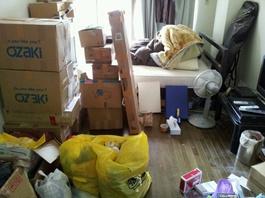 白山市のお客様 さんの不用品回収前の部屋の画像